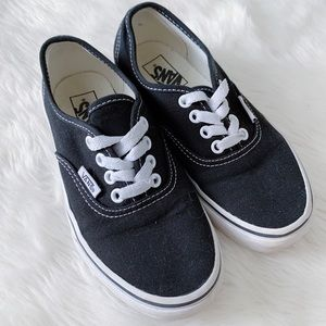 Vans Black Low Top Sneakers Kids Shoes Size 1